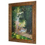 Sergio Ugho after Claude Monet ''Parigini al Parc-Monceaux'' Signed Claude Monet, inscribed verso,
