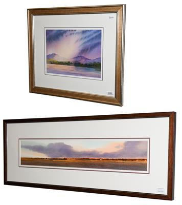 Ian Scott Massie (Contemporary) ''Silent Hills'' Signed, watercolour, together with a further