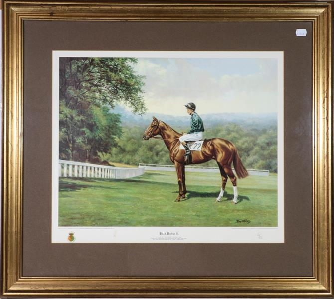 A large collection of colour racing prints, hunting prints and a landscape, various sizes (qty) - Image 17 of 20