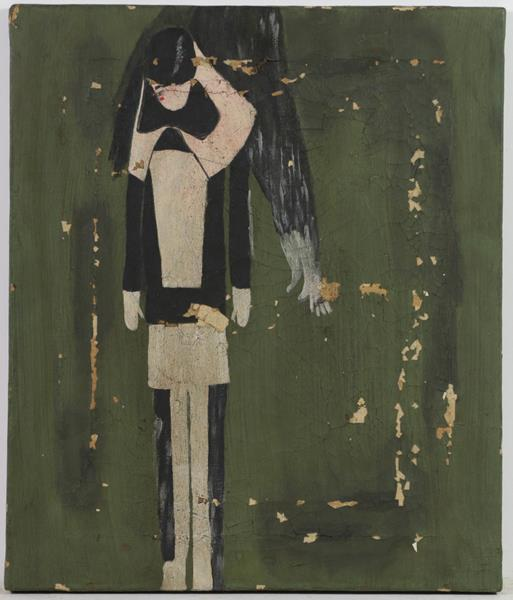 After Laurence Stephen Lowry RBA, RA (1887-1976) Study of a standing girl Oil on canvas, together