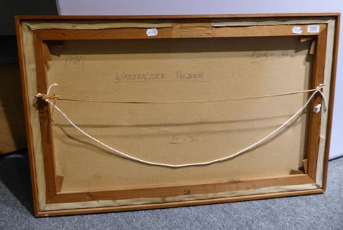 Kit Barker (1916-1988) ''Waldensee Polder'' Signed, inscribed verso, oil on canvas, 56cm by 91cm - Image 2 of 12