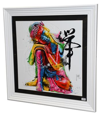 Patrice Murciano (Contemporary) Buddha Signed and dated 2012, mixed media, 66cm by 66cm Artist's