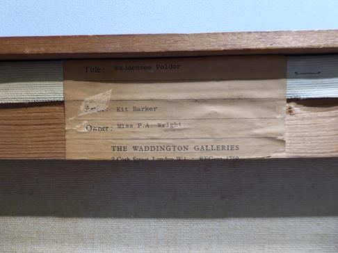 Kit Barker (1916-1988) ''Waldensee Polder'' Signed, inscribed verso, oil on canvas, 56cm by 91cm - Image 3 of 12