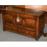 A Titchmarsh & Goodwin style oak mule chest
