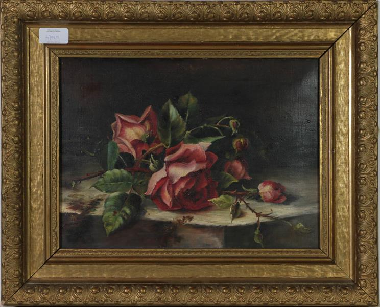 M E Oddie (20th century) Still life flowers in a bowl, together with a indistinctly signed still - Image 3 of 4