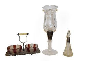 A group of collectable items including racing goggles, Zenith binoculars, Georgian snuff box,