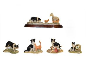 Border Fine Arts Collie models including 'Bob', 'Sweep', 'First Lesson', 'Hen Pecked', etc (qty on
