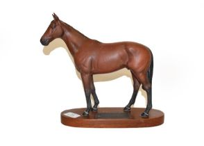 Beswick Connoisseur Horses comprising Red Rum, model No. 2510, Mill Reef, model No. 2422 and Grundy,