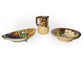 A collection of Royal Winton lustre glazed pottery, Masons, etc (qty)