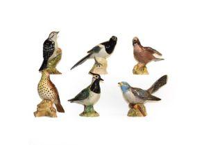 Beswick birds including 'Barn Owl', 'Jay', 'Lesser Spotted Woodpecker', 'Lapwing', 'Cuckcoo' etc (