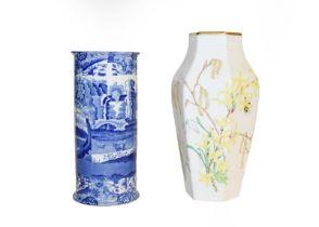 A tray of ceramics including a Royal Crown Derby Mikado pattern part tea set, Coalport Imari tea