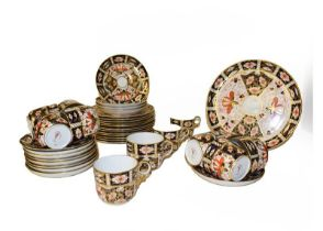 A quantity of Royal Crown Derby Old Imari tea and coffee wares, including a three part tea