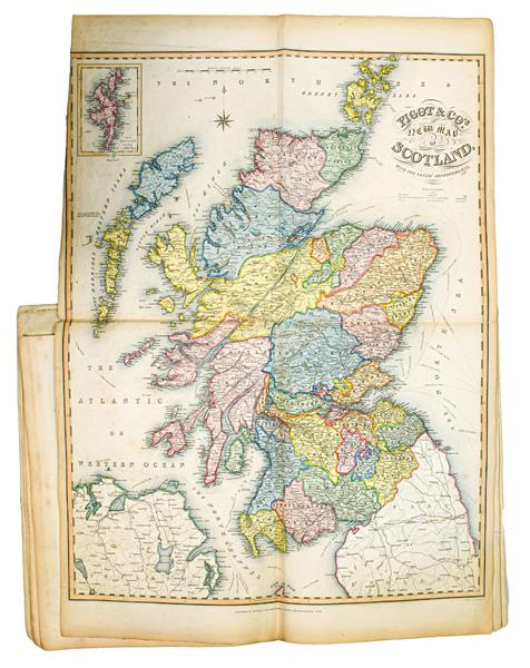 Railways. Pigot & Co.'s British Atlas, comprising the Counties of England (upon which are laid