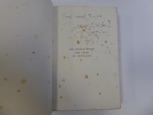 Bindings. 1) The Salmon Rivers and Lochs of Scotland. By W. L. Calderwood, 1st edition, London: - Image 3 of 15