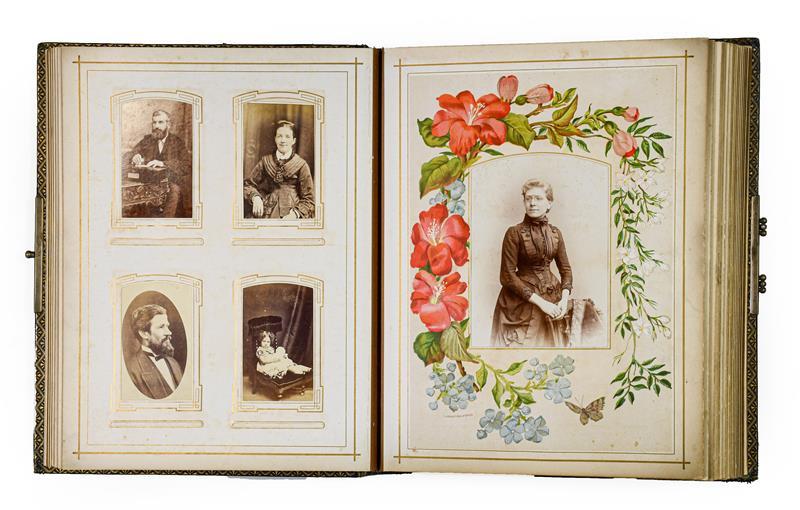 Cartes de visite. An album of about 80 cartes de visite, c.1870. 4to album (305 x 230 mm), - Image 2 of 3