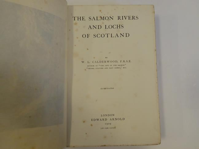 Bindings. 1) The Salmon Rivers and Lochs of Scotland. By W. L. Calderwood, 1st edition, London: - Image 4 of 15