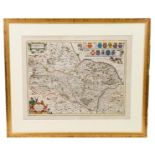 Yorkshire. A group of 4 maps, 17th century, comprising: 1) Ogilby (John). The Road from Whitby in