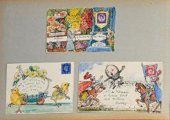 Sausmarez (Ronald Philip Stanley de, 1880/1-1973, Commander RN). Album of watercolour jeux d'esprit,