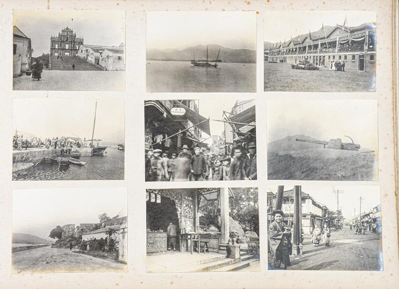 Hong Kong. Photograph album depicting a tour by Lieutenant William Gray Rawlinson (1890-1915), 2nd