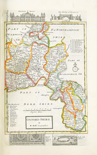 Moll (Herman). A Set of Fifty New and Correct Maps of England and Wales, etc. With the Great Roads