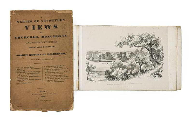 Davis (J. Scarlett). Twelve Views in Lithography, of Bolton Abbey,. Wharfedale, Yorkshire, 1st