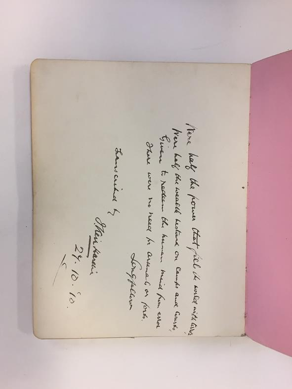 Suffragettes. Album of autographs and sketches, 1910-15. 4to (226 x 176 mm), contemporary maroon - Image 2 of 5