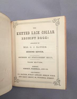 Baynes (Mrs G. J.). [Sammelband of knitting and needlework manuals], London: Simpkin, Marshall & - Image 6 of 9