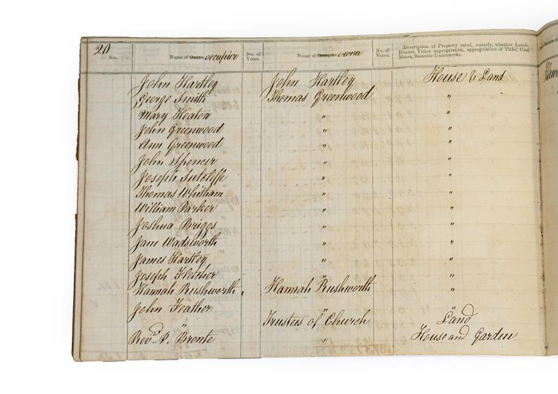 Brontë Family. 'Form of Rate. An Assessment for the Relief of the Poor of the Township of Haworth in - Image 3 of 12