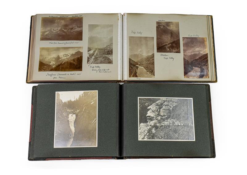 Cartes de visite. An album of about 80 cartes de visite, c.1870. 4to album (305 x 230 mm), - Image 3 of 3