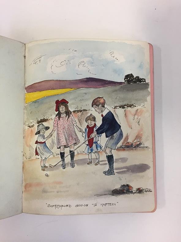 Suffragettes. Album of autographs and sketches, 1910-15. 4to (226 x 176 mm), contemporary maroon - Image 3 of 5