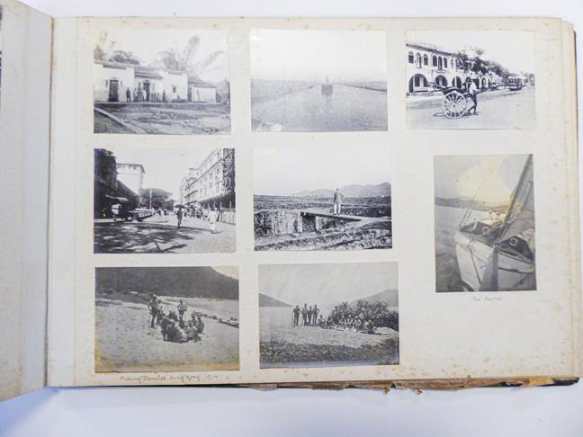 Hong Kong. Photograph album depicting a tour by Lieutenant William Gray Rawlinson (1890-1915), 2nd - Image 4 of 11