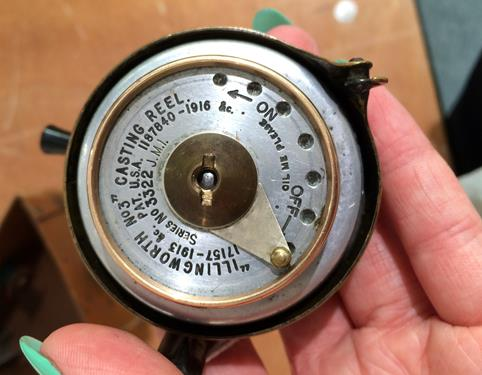 An Illingworth No3 Casting Reel complete with boxGood mechanical condition, some age related - Image 6 of 6