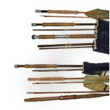 A Collection Of Rods And Reels to include a Hardy Perfect 3 5/8'' with alloy foot, agate line