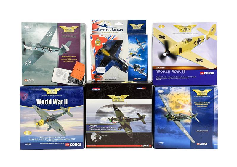 Corgi Aviation Archive 1:72 Scale Luftwaffe Group AA32515 Ju87B1, AA32505 Junkers Ju87B2, AA34304