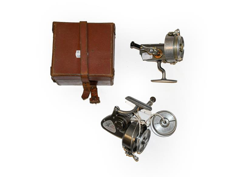 A Hardy Altex No2 MKV Spinning Reel along with a Hardy Exalta and spare spool. (3)Altex: Good