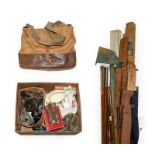 A Collection Of Miscellaneous Tackle including fifteen fly, spin, sea and coarse rods mostly