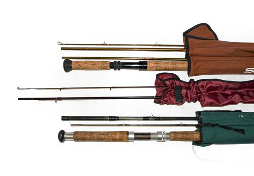 A Collection Of Various Rods to include An Orvis Spey graphite salmon fly rod 15' #11, A Drennan
