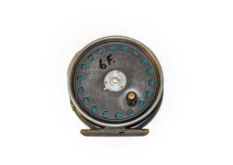 A Hardy St George 3 3/8'' Fly Reel with agate line guard and 3 screw latch