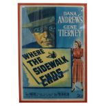 Limited Edition Film Poster Print 'Where The Sidewalk Ends' 50/410 26 1/2x40 1/2'' 67x103 cm (framed