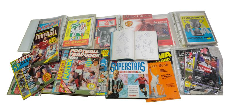 Autographed Football Items including David Fairclough, Ray Clemence, Phil Thompson, Kenny Dalgleish,