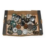 A Collection Of Assorted Fly Reels by various makers including Daiwa, Roddy, Sharpes, Youngs,