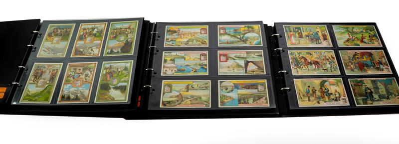 Leibig And Other Trade Cards Various Sets In Five Display Albums