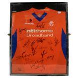 Rangers Football Club Away Signed Shirt 1993/94 orange/blue