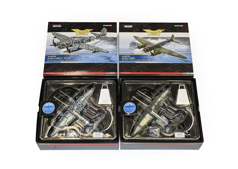 Corgi Aviation Archive 1:72 Scale Two Junkers Ju88s AA36703 Lister March 1943 and AA36704 Toskania