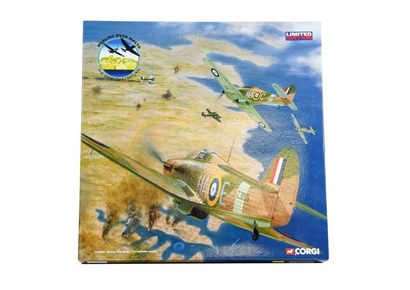 Corgi Aviation Archive AA99183 1:72 Scale Merlins Over Malta - The Defenders Return Spitfire and