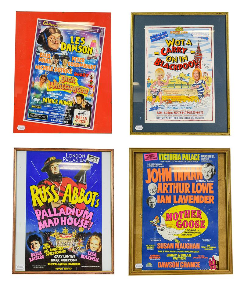 Theatre Posters Hi-De-Hi; Les Dawson in Dick Whittington; What A Carry On In Blackpool; John