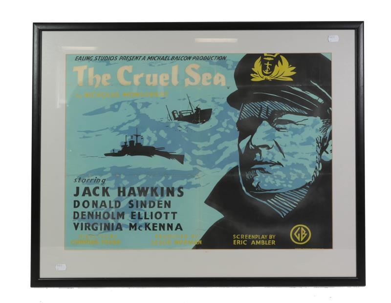 The Cruel Sea (1953) Film Poster starring Jack Hawkins, Don Sinden, Denholm Elliott and Virginia