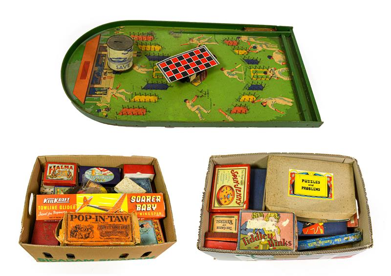 Various Games a good selection including Spin Jenny, Totopoly, Alibi, Piktee, Pop-In-Taw, Precedent,