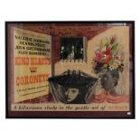 Kind Hearts And Coronets (1949) Film Poster 'A Hilarious Study In The Gentle Art Of Murder' starring