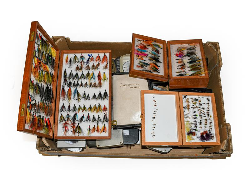 A Collection Of Various fly Boxes by various makers including Wheatley, Snowbee, C&F and